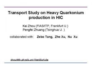 Transport Study on Heavy Quarkonium production in HIC