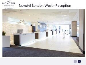 Novotel London West Reception Sales Actions Novotel London