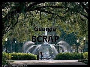 Georgia BCRAP The Appalachian Plateau is found in