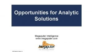 Opportunities for Analytic Poly Analyst Solutions Web Report