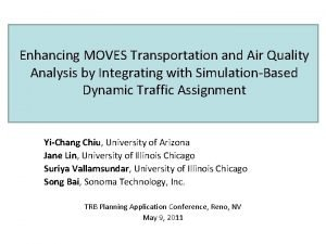 Enhancing MOVES Transportation and Air Quality Analysis by