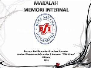 MAKALAH MEMORI INTERNAL TUGAS AKHIR PENDIDIKAN AGAMA ISLAM