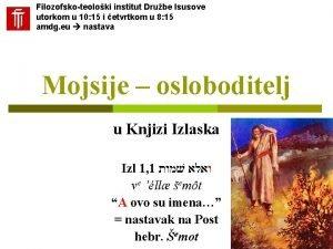Filozofskoteoloki institut Drube Isusove utorkom u 10 15