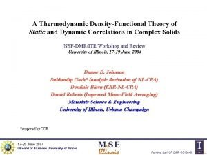 A Thermodynamic DensityFunctional Theory of Static and Dynamic