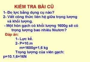 KIM TRA BI C 1 o lc bng