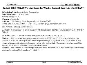 14 March 2002 doc IEEE 802 15 02152