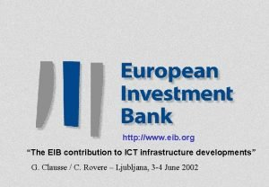 http www eib org The EIB contribution to