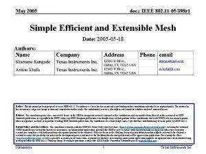 May 2005 doc IEEE 802 11 05398 r