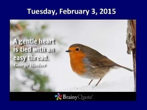 Tuesday February 3 2015 February is Career and