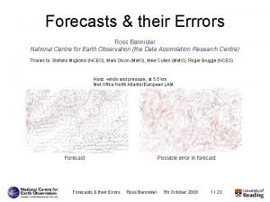 PDFs Assimilation Measuring Modelling Refining Challenges Forecasts their