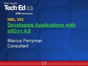MBL 392 Developing Applications with e VC 4