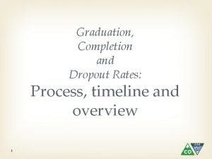 Graduation Completion and Dropout Rates Process timeline and
