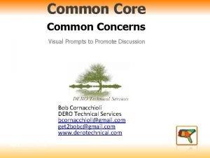 Common Core Common Concerns Visual Prompts to Promote