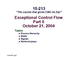 15 213 The course that gives CMU its