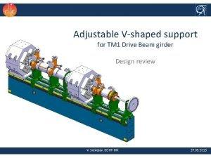 Adjustable Vshaped support for TM 1 Drive Beam