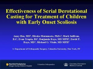 Effectiveness of Serial Derotational Casting for Treatment of