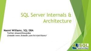 SQL Server Internals Architecture Naomi Williams SQL DBA