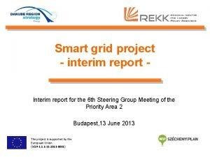 Smart grid project interim report Interim report for