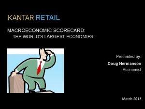 MACROECONOMIC SCORECARD THE WORLDS LARGEST ECONOMIES Presented by