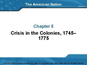 The American Nation Chapter 5 Crisis in the