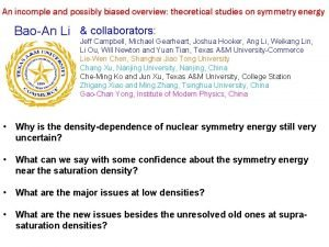 An incomple and possibly biased overview theoretical studies