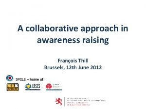 A collaborative approach in awareness raising Franois Thill