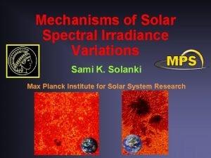 Mechanisms of Solar Spectral Irradiance Variations Sami K