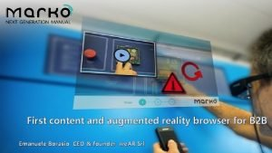 First content and augmented reality browser for B