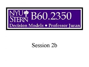 Session 2 b Overview More Sensitivity Analysis Solver