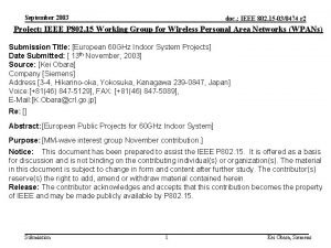 September 2003 doc IEEE 802 15 030474 r