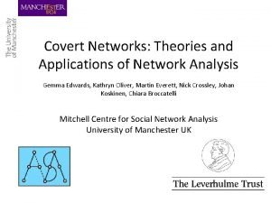 Covert Networks Theories and Applications of Network Analysis
