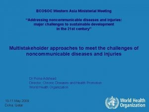 ECOSOC Western Asia Ministerial Meeting Addressing noncommunicable diseases