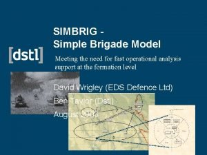 SIMBRIG Simple Brigade Model Meeting the need for
