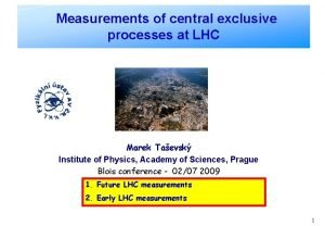 Measurements of central exclusive processes at LHC Marek