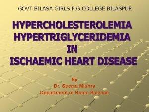 GOVT BILASA GIRLS P G COLLEGE BILASPUR By