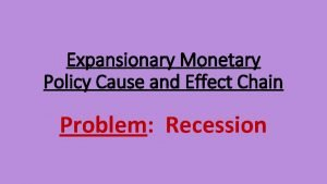 Expansionary Monetary Policy Cause and Effect Chain Problem