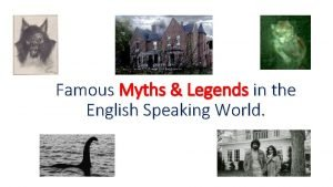 Famous Myths Legends in the English Speaking World