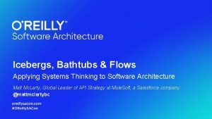 Icebergs Bathtubs Flows Applying Systems Thinking to Software