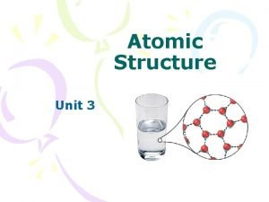 Atomic Structure Unit 3 Atomic Structure If a