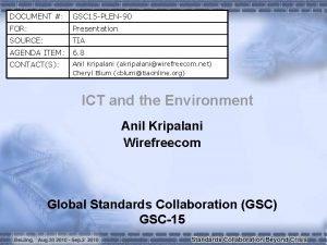 DOCUMENT GSC 15 PLEN90 FOR Presentation SOURCE TIA