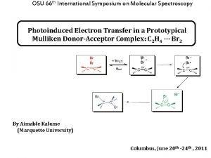 OSU 66 th International Symposium on Molecular Spectroscopy