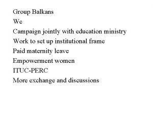 Group Balkans We Campaign jointly with education ministry