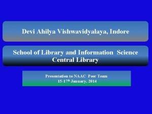 Devi Ahilya Vishwavidyalaya Indore School of Library and