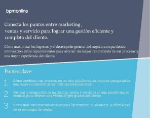 Conecta los puntos entre marketing ventas y servicio