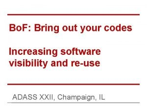 Bo F Bring out your codes Increasing software