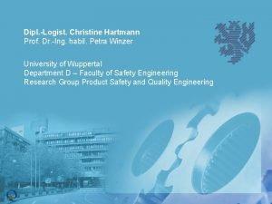 Dipl Logist Christine Hartmann Prof Dr Ing habil