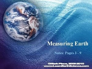 Measuring Earth Notes Pages 3 9 Earths Spheres