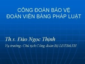 CNG ON BO V ON VIN BNG PHP