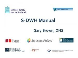 SDWH Manual Gary Brown ONS Overview Prologue Props