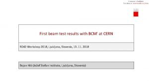 First beam test results with BCM at CERN